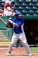 Tyler Ladendorf (5) of the Midland RockHounds at bat during a game against the Springfield Cardinals on April 19, 2011 at Hammons Field in Springfield, Missouri.  Photo By David Welker/Four Seam Images