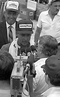 Greg Sacks victory lane Pepsi Firecracker 400 at Daytona International Speedway in Daytona Beach, FL on July 4, 1985. (Photo by Brian Cleary/www.bcpix.com)