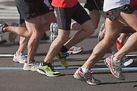 NEW YORK - NOVEMBER 7: The legs and feet of runners during the 2010 New York City Marathon.