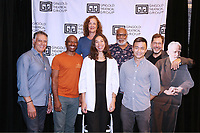 NEW YORK, NY- SEPTEMBER 14: Robert Cuccioli, Alvin Keith, Karen Ziemba, Nicole King, Raphael Nash Thompson, David Lee Huynh and David Staller attend the photo call for the Off-Broadway play Mrs. Warren's Profession, held at the Ginghold Theatrical Group, on September 14, 2021, in New York City. Credit: Joseph Marzullo/MediaPunch