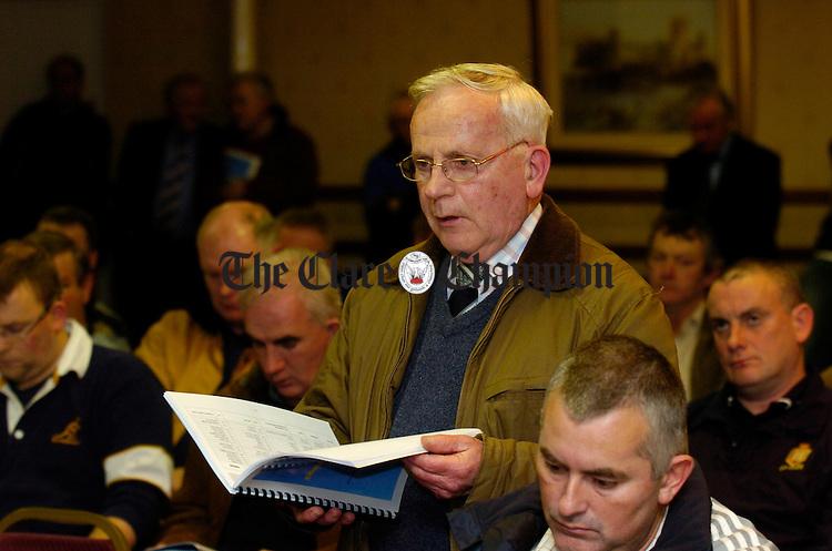 Padraig Mac Mathuna at the Bord na nOg Iomaint AGM in the West County Hotel. Photograph by John Kelly.