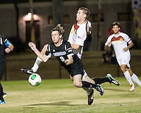 The Winthrop University Eagles beat the UNC Asheville Bulldogs 4-0 to clinch a spot in the Big South Championship tournament.  Stabler Cochrane (9), Kyle Kennedy (19)