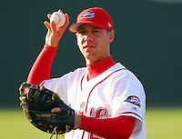 13 April 2007: Mike Chambers of the Greenville Drive, Class A affiliate of the Boston Red Sox, during a game against the Rome Braves, an affiliate of the Atlanta Braves. Photo by:  Tom Priddy/Four Seam Images