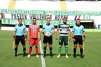 VALLEDUPAR - COLOMBIA, 15-08-2021: Valledupar F.C. y Tigres F.C. en partido por la fecha 4 del Torneo BetPlay DIMAYOR II 2021 jugado en el estadio Armando Maestre Pavajeau de la ciudad de Valledupar. / Valledupar F.C. and Tigres F.C. in match for the for the date 4 as part of BetPlay DIMAYOR Tournament II 2021 played at Armando Maestre Pavajeau stadium in Valledupar city. Photo: VizzorImage / Adamis Guerra / Cont