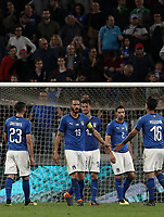 International friendly football match Italy vs The Netherlands, Allianz Stadium, Turin, Italy, June 4, 2018. <br /> Italy's players at the end of the international friendly football match between Italy and The Netherlands at the Allianz Stadium in Turin on June 4, 2018.<br /> Italy and The Netherlands drawns 1-1.<br /> UPDATE IMAGES PRESS/Isabella Bonotto