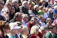 Hundreds of people fill the stands at Point Loma High School for the Memorial service held for Coach Bennie Eden at the Football stadium that was recently renamed in his honor, Saturday February 23 2008.