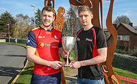 Monday 25th February 2019 | Towns Cup 2019<br /> <br /> Grant Bartley representing Ballyclare RFC, Luke Crozier representing Armagh RFC, at the River Rock Ulster Towns Cup Semi-Final draw which was held at Kingspan Stadium today. Photo by John Dickson / DICKSONDIGITAL