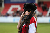 Katie Price during the Celebrity Charity Football Match hosted by Sellebrity Soccer for the Benjamin Lewis Charity Cub at the Abbey Business Stadium, Cheltenham, England on 25 March 2018. Photo by David Horn.
