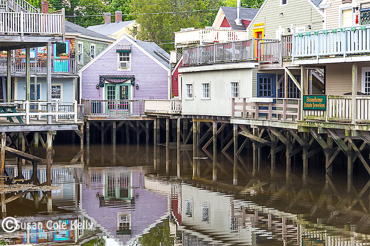 The Port Walk shops in Kennebunkport, Maine, USA