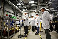 Le premier ministre  Justin Trudeau visite la MDA Corporation, le 9 aout 2018.<br /> <br /> <br /> PHOTO : Agence Quebec Presse
