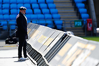 25th April 2021; Ricoh Arena, Coventry, West Midlands, England; English Premiership Rugby, Wasps versus Bath Rugby; TV commentator Austin Healey watches the pre-match warm up in the sunshine