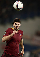 Football Soccer: Europa League Round of 16 second leg, Roma-Lyon, stadio Olimpico, Roma, Italy, March 16,  2017. <br /> Roma's Federico Fazio in action during the Europe League football soccer match between Roma and Lyon at the Olympique stadium, March 16,  2017. <br /> Despite losing 2-1, Lyon reach the quarter finals for 5-4 aggregate win.<br /> UPDATE IMAGES PRESS/Isabella Bonotto