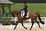 April 25, 2014: Ballynoe Castle RM and Bruce Davidson Jr. compete in Dressage at the Rolex Three Day Event in Lexington, KY at the Kentucky Horse Park.  Candice Chavez/ESW/CSM