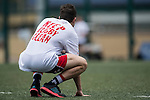 Teams warm up during the Day 3 of the IRB Junior World Rugby Trophy 2014 at the Hong Kong Football Club on April 15, 2014 in Hong Kong, China. Photo by Aitor Alcalde / Power Sport Images