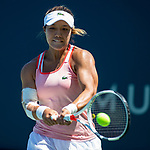 July 28, 2019: Kristie Ahn (USA) in action where she defeated Danielle Lao (USA) 6-1, 6-4 in the final round of qualifying in the Mubadala Silicon Valley Classic at San Jose State in San Jose, California. ©Mal Taam/TennisClix/CSM