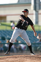 Ben Carter of the Lake Elsinore Storm during a California League baseball game on May 19, 2007 at The Hanger in Lancaster, California. (Larry Goren/Four Seam Images)