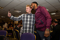 Pictured: Leroy Fer of Swansea City during the Swans Community Trust awards dinner at the liberty stadium in Swansea, Wales, UK <br /> Thursday 02 April 2019