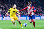 Atletico de Madrid Antoine Griezmann and Borussia Dortmund Achraf Hakimi during group stage of UEFA Champions League match between Atletico de Madrid and Borussia Dortmund at Wanda Metropolitano in Madrid, Spain.November 06, 2018. (ALTERPHOTOS/Borja B.Hojas)