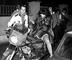 PIPPO FRANCO CON LA MOGLIE LAURA TROSCHEL<br /> ROMA 1980