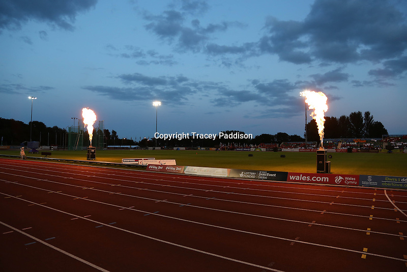 Monday August 18, 2014 <br /> Picture: Swansea University Sports Village<br /> RE: Flames rise high as the 2014 IPC Athletics European Championships are declared open.