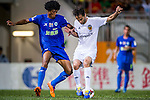 (R) Jonas of Valencia CF competes for the ball with (L) Ivan Zarandona of BC Rangers FC during LFP World Challenge 2014 between Valencia CF vs BC Rangers FC on May 28, 2014 at the Mongkok Stadium in Hong Kong, China. Photo by Victor Fraile / Power Sport Images