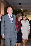 08.10.2012. Spanish Royals, Juan Carlos and Sofia, preside the ceremony commemorating the 20th anniversary of the Thyssen-Bornemisza Museum located in the Villahermosa Palace, in Madrid, Spain. In the image King Juan Carlos of Spain, Queen Sofia of Spain and Carmen Thyssen-Bornemisza. (Alterphotos/Marta Gonzalez)