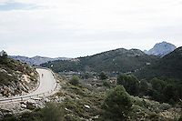 A Cofidis rider trains in the mountain area of the Alicante province.<br />