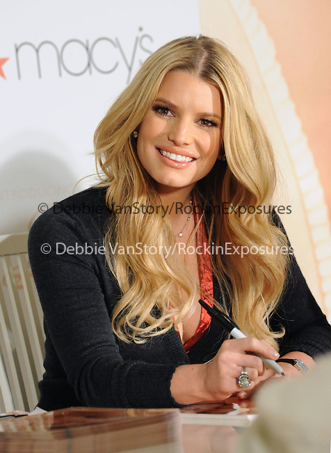 Jessica Simpson  singer, actress and fashion icon launches FANCY her new floral, feminine fragrance at.Macy?s South Coast Plaza in Costa Mesa, California on December 13,2008                                                                     Copyright 2008 Debbie VanStory/RockinExposures