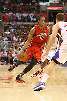 12/09/12 Los Angeles, CA:Toronto Raptors shooting guard DeMar DeRozan #10 during an NBA game between the Los Angeles Clippers and the Toronto Raptors played at Staples Center. The Clippers defeated the Raptors 102-83.