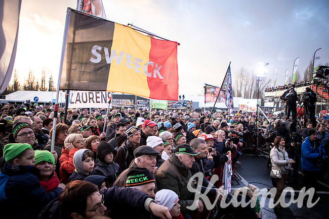 Laurens Sweeck (BEL/Pauwels Sauzen - Bingoal) fans <br /> <br /> Elite Men's Race <br /> Belgian National CX Championships<br /> Antwerp 2020