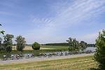 The peloton pass through the Po Valley during Stage 18 of the 2021 Giro d'Italia, running 231km from Rovereto to Stradella, Italy. 27th May 2021.  <br /> Picture: LaPresse/Fabio Ferrari   Cyclefile<br /> <br /> All photos usage must carry mandatory copyright credit (© Cyclefile   LaPresse/Fabio Ferrari)