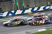 Monster Energy NASCAR Cup Series<br /> Quaker State 400<br /> Kentucky Speedway, Sparta, KY USA<br /> Saturday 8 July 2017<br /> Martin Truex Jr, Furniture Row Racing, Furniture Row/Denver Mattress Toyota Camry, Kyle Busch, Joe Gibbs Racing, Snickers Toyota Camry, Kyle Larson, Chip Ganassi Racing, Target Chevrolet SS<br /> World Copyright: Logan Whitton<br /> LAT Images