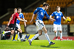 St Johnstone v Kilmarnock…24.11.18…   McDiarmid Park    SPFL<br />Matty Kennedy's shot rebounds off the cross bar and falls for Murray Davidson but he shoots over<br />Picture by Graeme Hart. <br />Copyright Perthshire Picture Agency<br />Tel: 01738 623350  Mobile: 07990 594431