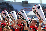 December 30, 2016: Georgia Bulldog cheerleaders in the first half of the AutoZone Liberty Bowl inside Liberty Bowl Memorial Stadium in Memphis, Tennessee. ©Justin Manning/Eclipse Sportswire/Cal Sport Media