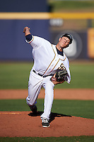 Peoria Javelinas pitcher Phil Maton (29), of the San Diego Padres organization, during a game against the Surprise Saguaros on October 12, 2016 at Peoria Stadium in Peoria, Arizona.  The game ended in a 7-7 tie after eleven innings.  (Mike Janes/Four Seam Images)