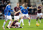Hearts v St Johnstone…26.01.19…   Tynecastle    SPFL<br />Callum Hendry gets the ball from Christophe Berra<br />Picture by Graeme Hart. <br />Copyright Perthshire Picture Agency<br />Tel: 01738 623350  Mobile: 07990 594431