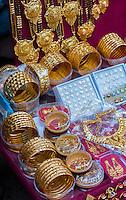 Nepal, Kathmandu.  Women's Gold Bracelets and Jewelry.