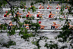 A view of the river while rowers compete during the 68th Dad Vail Regatta on the Schuylkill River in Philadelphia, Pennsylvania on May 12, 2006...............