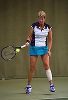 Hilversum, The Netherlands, 05.03.2014. NOVK ,National Indoor Veterans Championships of 2014, Sylvia Lievers-Kronenburg (NED)<br /> Photo:Tennisimages/Henk Koster