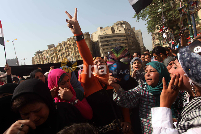 Egyptian protesters demonstrate a day after a court sentenced deposed president Hosni Mubarak to life in prison, at Tahrir Square in Cairo June 3, 2012. Egyptian pro-democracy campaigners called for a new uprising on Sunday, enraged that a court had spared Mubarak his life over the killing of protesters during the street revolt that ended his three-decade rule. Photo by Ashraf Amra