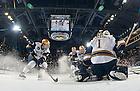 Mar. 1, 2013;  Hockey vs. Bowling Green, captain Anders Lee (9), goalie Steven Summerhays (1).