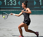 April 4,2017:   Veronica Cepede Royg (PAR) loses to Shelby Rogers (USA) 6-7, 6-3, 7-6, at the Volvo Car Open being played at Family Circle Tennis Center in Charleston, South Carolina.  ©Leslie Billman/Tennisclix/Cal Sport Media