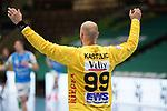 Urh Kastelic (FAG) beim Spiel in der Handball Bundesliga, Frisch Auf Goeppingen - TVB 1898 Stuttgart.<br /> <br /> Foto © PIX-Sportfotos *** Foto ist honorarpflichtig! *** Auf Anfrage in hoeherer Qualitaet/Aufloesung. Belegexemplar erbeten. Veroeffentlichung ausschliesslich fuer journalistisch-publizistische Zwecke. For editorial use only.