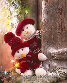 Interlitho, CHRISTMAS ANIMALS, photos+++++,2 snowmen,red berries,KL2982,#xa#