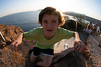 Max at Temple of Poseidon, Cape Sounion, Attic, Greece