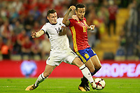 Spain's Thiago Alcantara (r) and Albania's Taulant Xhaka during FIFA World Cup 2018 Qualifying Round match. October 6,2017.(ALTERPHOTOS/Acero) /NortePhoto.com /NortePhoto.com