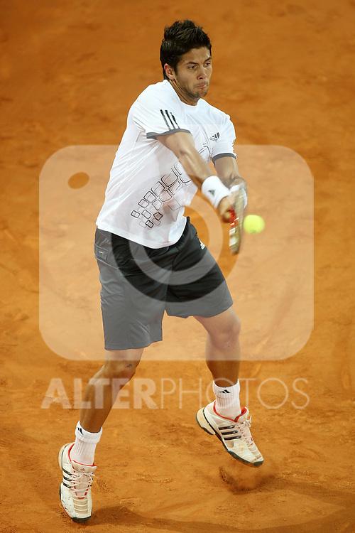 Spain's Fernando Verdasco during his Madrid Open quarter final match.May 15 2009.(ALTERPHOTOS/Acero).