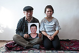 Muralu Tusypjuly and his 13-year-old daughter have been missing their wife and mother since November 2018, who is being held captive in a re-education camp in Xinjiang. The Russian photographer Konstantin Salomatin travelled to Almaty in November 2018 for the following portrait series.<br /> <br /> Muralu Tusypjuly und seine 13-jährige Tochter vermissen seit November 2018 ihre Ehefrau und Mutter, die in Xinjiang in einem Umerziehungslager gefangen gehalten wird. Der russische Fotograf Konstantin Salomatin reiste Ende 2018 für diese Porträtserie nach Almaty.