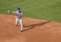 6 April 2015: New York Mets infielder Daniel Murphy in action during the Season Opening Game against the Washington Nationals at Nationals Park in Washington, DC. The Mets rallied to defeat the Nationals 3-1 in their first meeting of the 2015 MLB season. Mandatory Credit: Ed Wolfstein Photo *** RAW (NEF) Image File Available ***