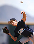 Centennial's Zachary Dixon pitches against Liberty in the NIAA Division I state baseball championship game, in Reno, Nev., on Saturday, May 24, 2014. Liberty defeated Centennial 5-3 to win the title. (Las Vegas Review-Journal, Cathleen Allison)